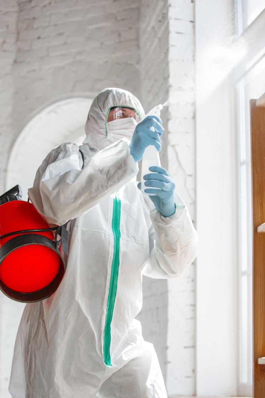 Sanitizing school for covid-19 in Houston
